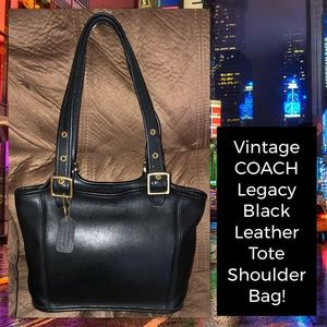 Vintage Coach Legacy Leather Tote Shoulder Bag!